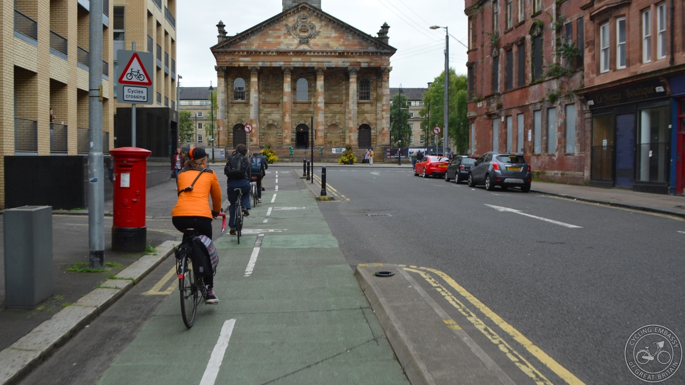 Glasgow bi-directional cycleway
