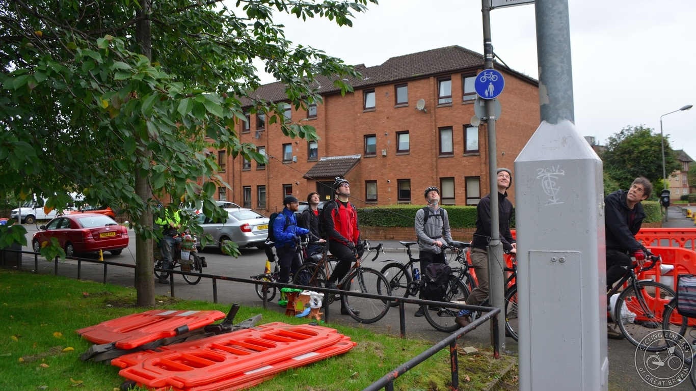 Glasgow shared use footway