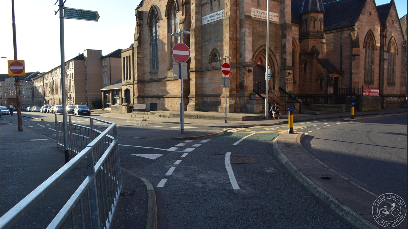 Glasgow Kelvingrove Cycleway Junction