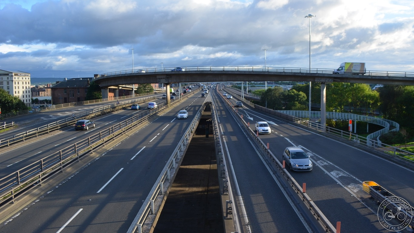 Glasgow Bridge to Nowhere M8 motorway