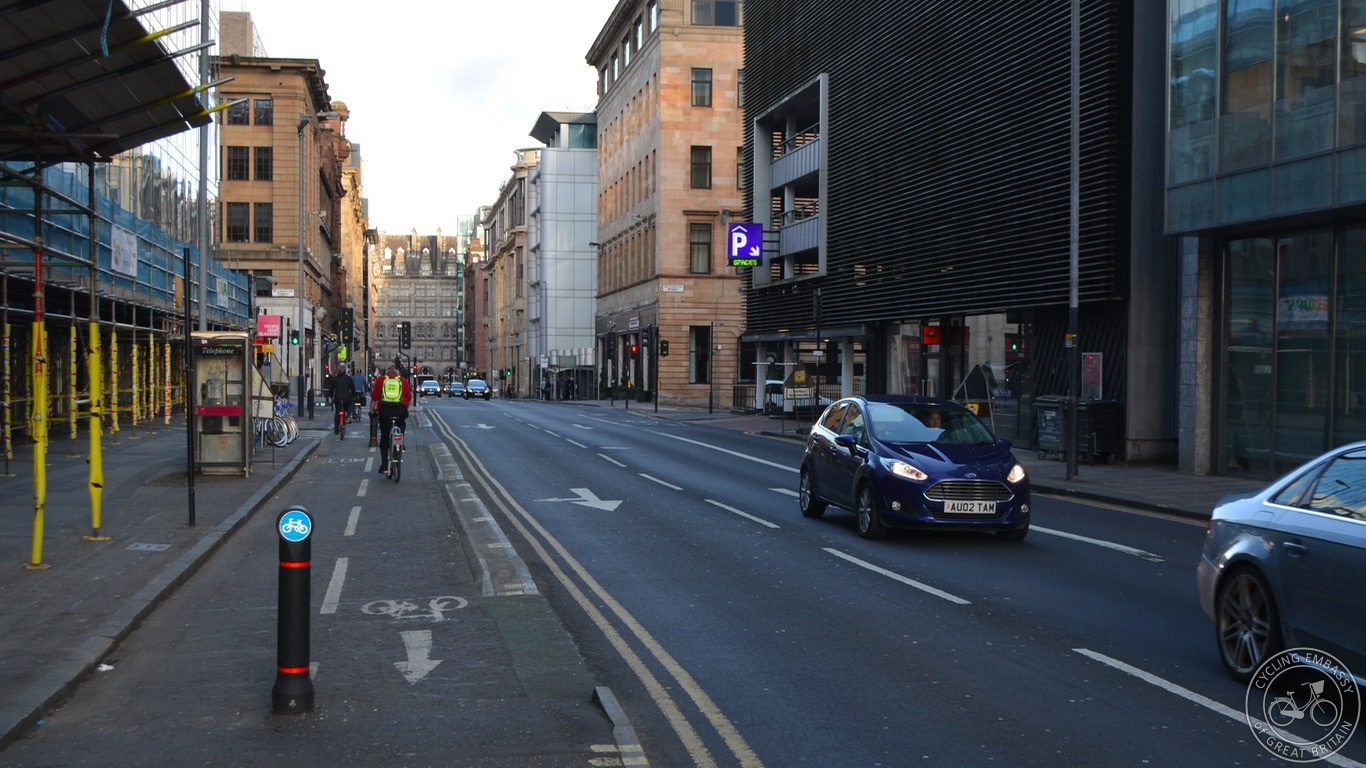 Glasgow city centre cycleway