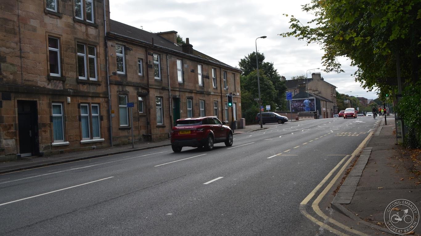 Glasgow Bearsden fast road