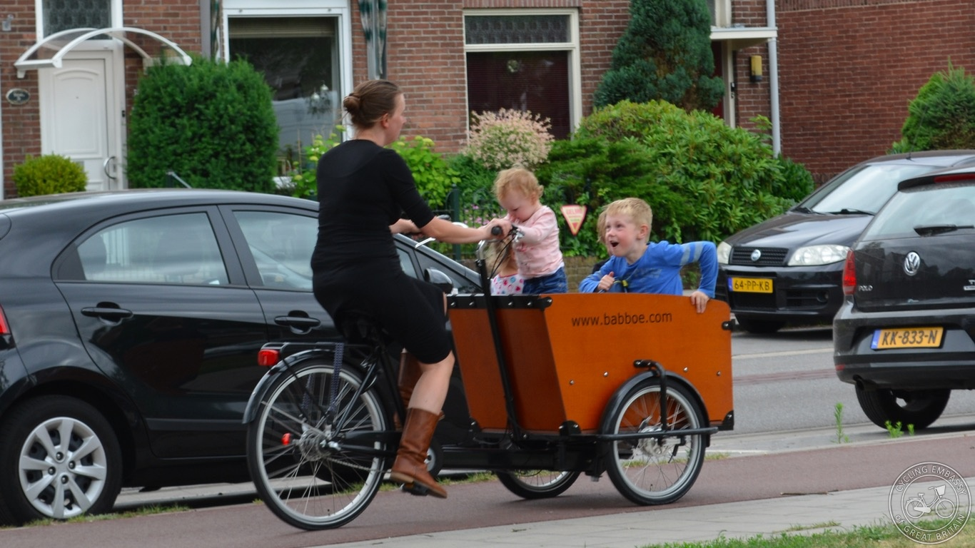 Three-wheeled cargo bike