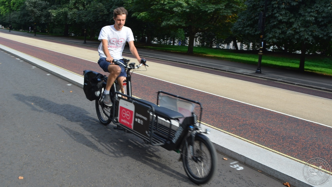 Pedal Me cargo bike taxi