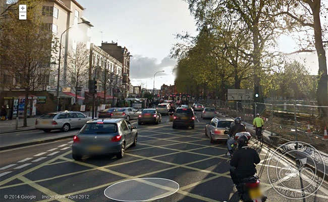 Shepherds Bush Green, bike and pedestrian paths closed for construction