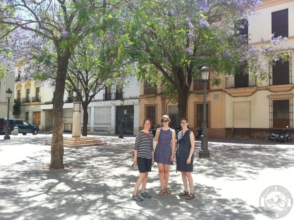 Suzanne Forup, Claire Connachan and Lizzie Reather enjoying the city on foot too