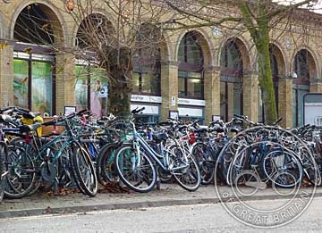 Bikes at Cambridge Station