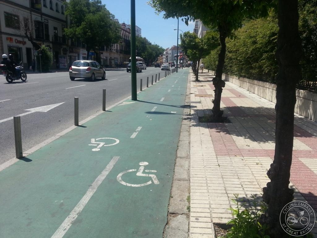 wheelchair symbols in bike lanes