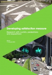 Developing satisfaction measure Research with cyclists, pedestrians and equestrians