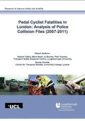 Pedal cyclist fatalities in London